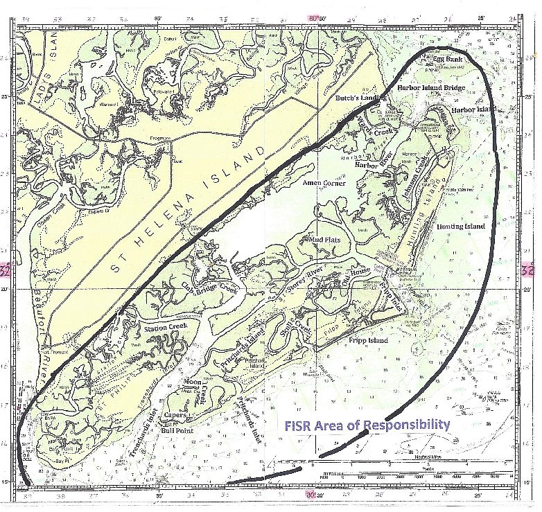 FISR Area of Responsibility Map - Fripp Island Sea Rescue